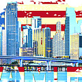 Miami Florida City Skyline by Don Kuing