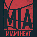 Miami Heat City Poster Art by Joe Hamilton