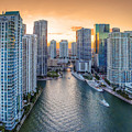 Miami River Fron The Drone by Coco Moni