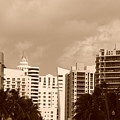 Miami  Sepia Sky by Rob Hans