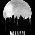 Miami Skyline Black by Naxart Studio