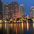 Miami Skyline by Carl Purcell