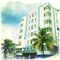 Miami South Beach Ocean Drive 4 by Nina Prommer