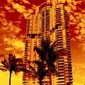 Miami South Pointe IIi by Monique's Fine Art