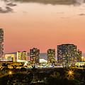 Miami Sunset Skyline by Rene Triay Photography