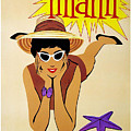 Miami Travel Poster by Pd