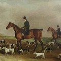 Michael Beverley With His Whipper In And Harriers by Edwin W Cooper