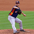 Michael Feliz Houston Astro Pitcher by Bruce Roker