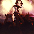 Michael Hutchence And Inxs 1985 by Sean Davey