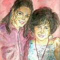 Michael Jackson And Elizabeth Taylor by Nicole Wang