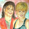 Michael Jackson And Princess Diana by Nicole Wang