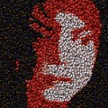 Michael Jackson Bottle Cap Mosaic by Paul Van Scott