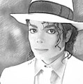Michael Jackson In Pen And Ink  by Doc Braham