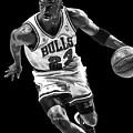 Michael Jordan Drives To The Basket by Daniel Hagerman