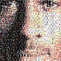 Michael Jordan Face Mosaic by Paul Van Scott