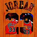 Michael Jordan Wood Art 1b by Brian Reaves