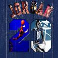 Michael Jordan Wood Art 2c by Brian Reaves