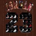 Michael Jordan Wood Art 2h by Brian Reaves