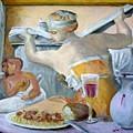 Michaelangelo's Lybian Sybil With Dinner by Edward Merrell