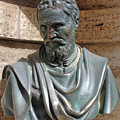Michelangelo Bust At The Vatican In Rome by Gregory Dyer