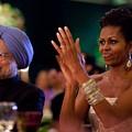 Michelle Obama Applauds by Everett
