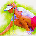 Michelle Wie Of Usa Lined Her Ball by Don Kuing