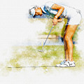 Michelle Wie Of Usa Putting At The  Lpga Lotte Championship  by Don Kuing