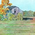 Michigan Autumn Barn by LeAnne Sowa