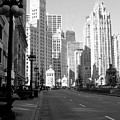 Michigan Ave Tall B-w by Anita Burgermeister