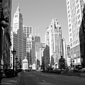 Michigan Ave Wide B-w by Anita Burgermeister