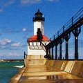 Michigan City Light 1 by Sandy MacGowan