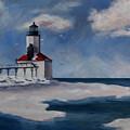 Michigan City Light by Brenda Thour