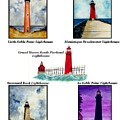 Michigan Lighthouses Montage by Michael Vigliotti