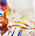 Mick Jagger Abstract by Dan Sproul