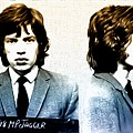 Mick Jagger Mugshot by Bill Cannon