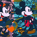 Mickey Mouse Vs. Minnie Mouse Stage On by Felix Von Altersheim