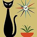 Mid Century Starburst Clock 3 by Donna Mibus