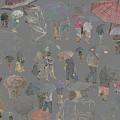 Middelkerke Umbrellas by Dominique De Leeuw