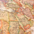 Middle East Map by Jill Lang