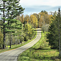 Middle Road In Autumn by Deborah Benoit