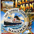 Midland Railway, Steam Boat, Isle Of Man, Poster by Long Shot