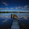 Midnight At Shady Shore On Moose Lake Minnesota by Alex Blondeau