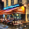 Midnight At The Brasserie by Dominic Piperata