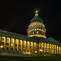 Midnight At The Utah State Capitol by TL  Mair