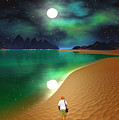 Midnight Beach Walk - Sea Of Cortezz by David Jackson