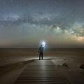 Midnight Explorer At Assateague Island by Michael Ver Sprill
