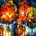 Midnight Rain by Leonid Afremov