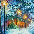 Midnight Snow Songs  by Leonid Afremov