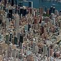Midtown East Manhattan Skyline Aerial   by David Oppenheimer