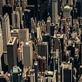 Midtown Manhattan Skyline Aerial by David Oppenheimer